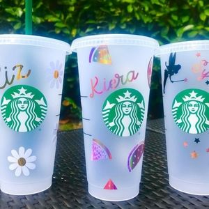 Personalized starbucks cup reusable cup.